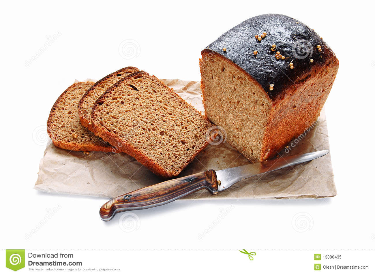 Black Bread Royalty Free Stock Photo - Image: 13086435