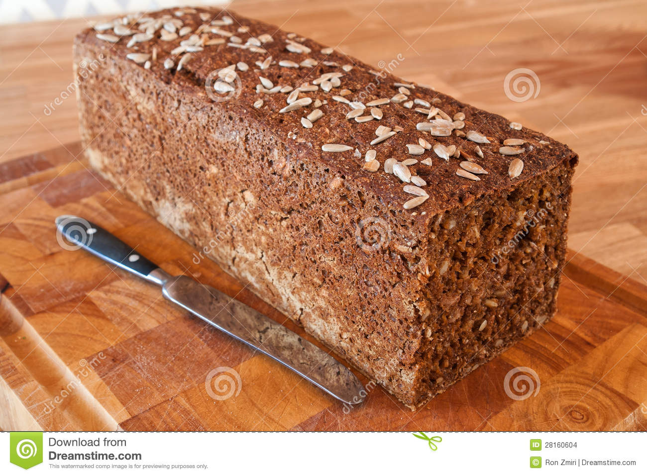 Black Bread With Sunflower Seeds Stock Images - Image: 28160604