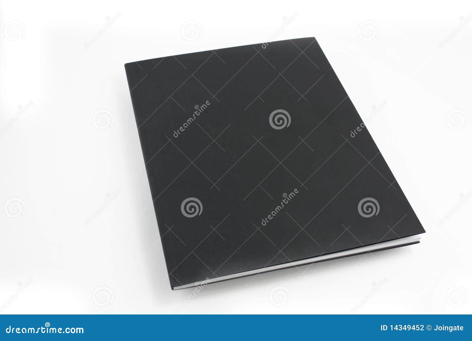 black brochure stock photo  image of cover  empty