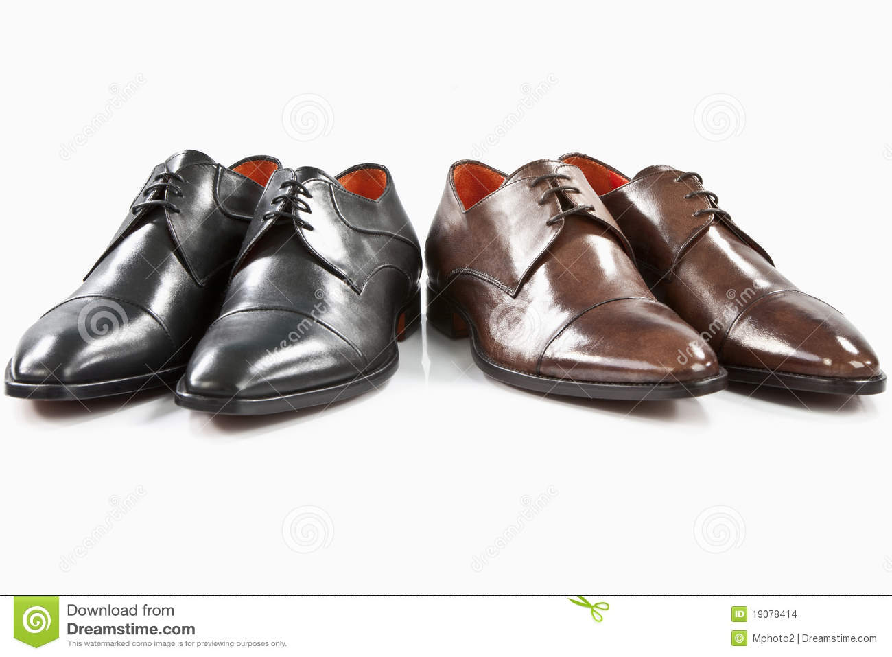 black and brown leather shoes stock images image 19078414