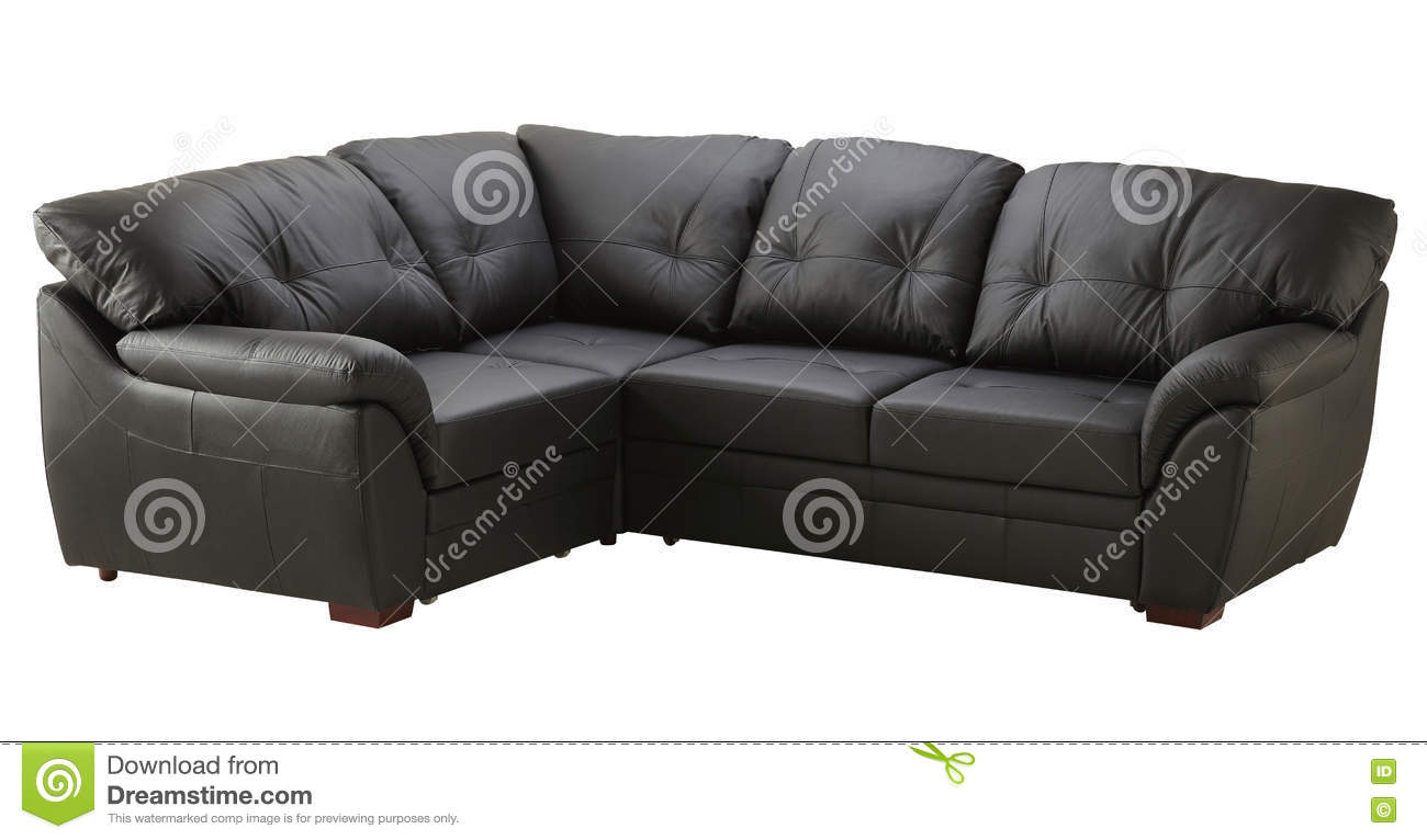 Picture of: Black Brown Leather Sofa Bed Isolated On White Stock Image Image Of Cotton Laid 71456411