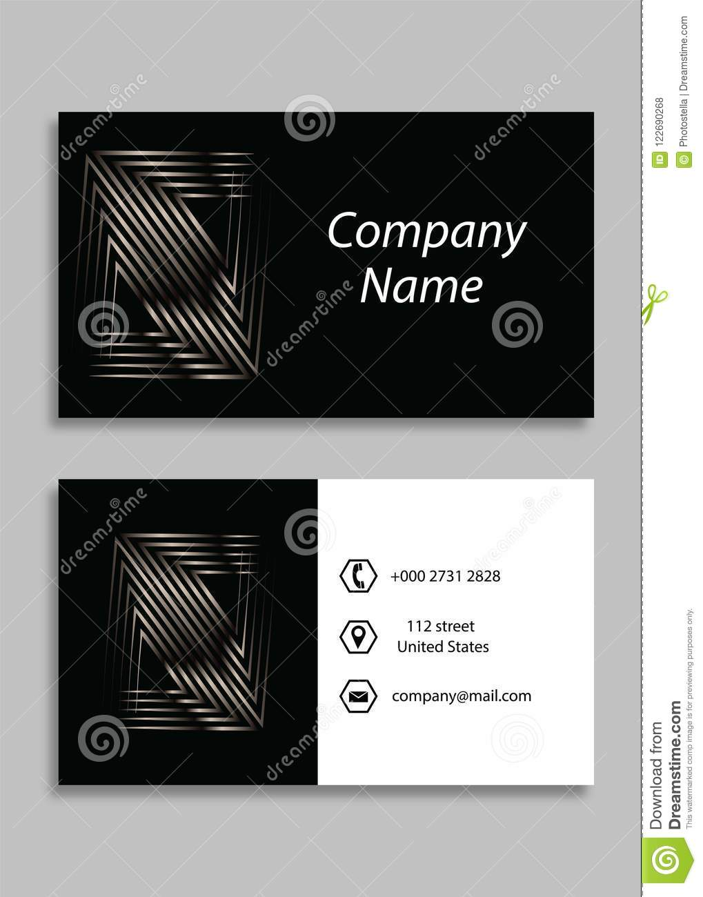 Black business card front and back vector business card template black business card front and back vector business card template accmission Image collections