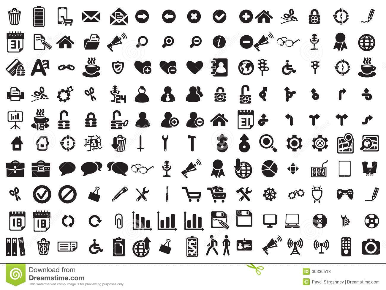 black business icons set on white royalty free stock