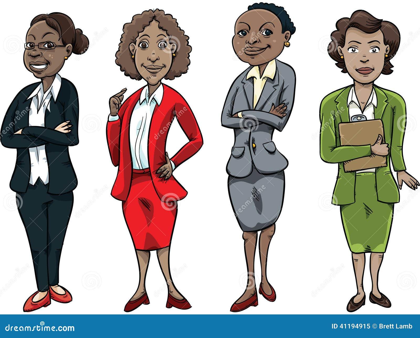Black Business Woman Stock Illustration - Image: 41194915