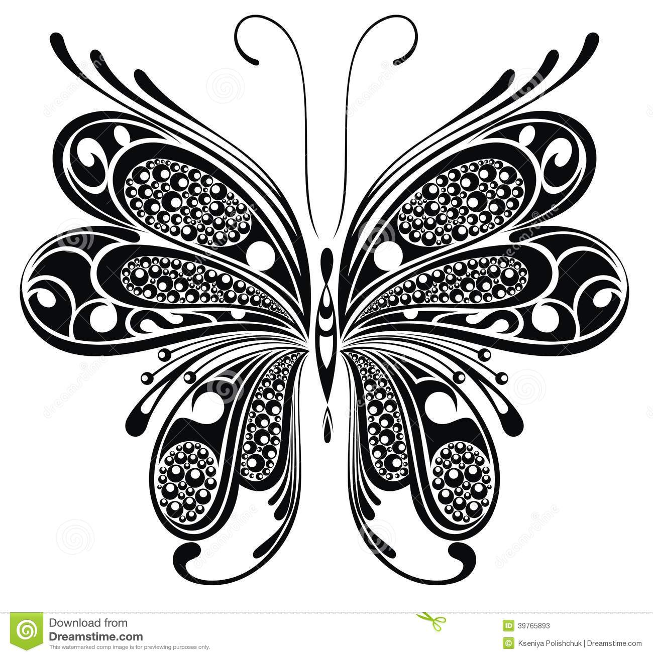 black butterfly design stock vector illustration