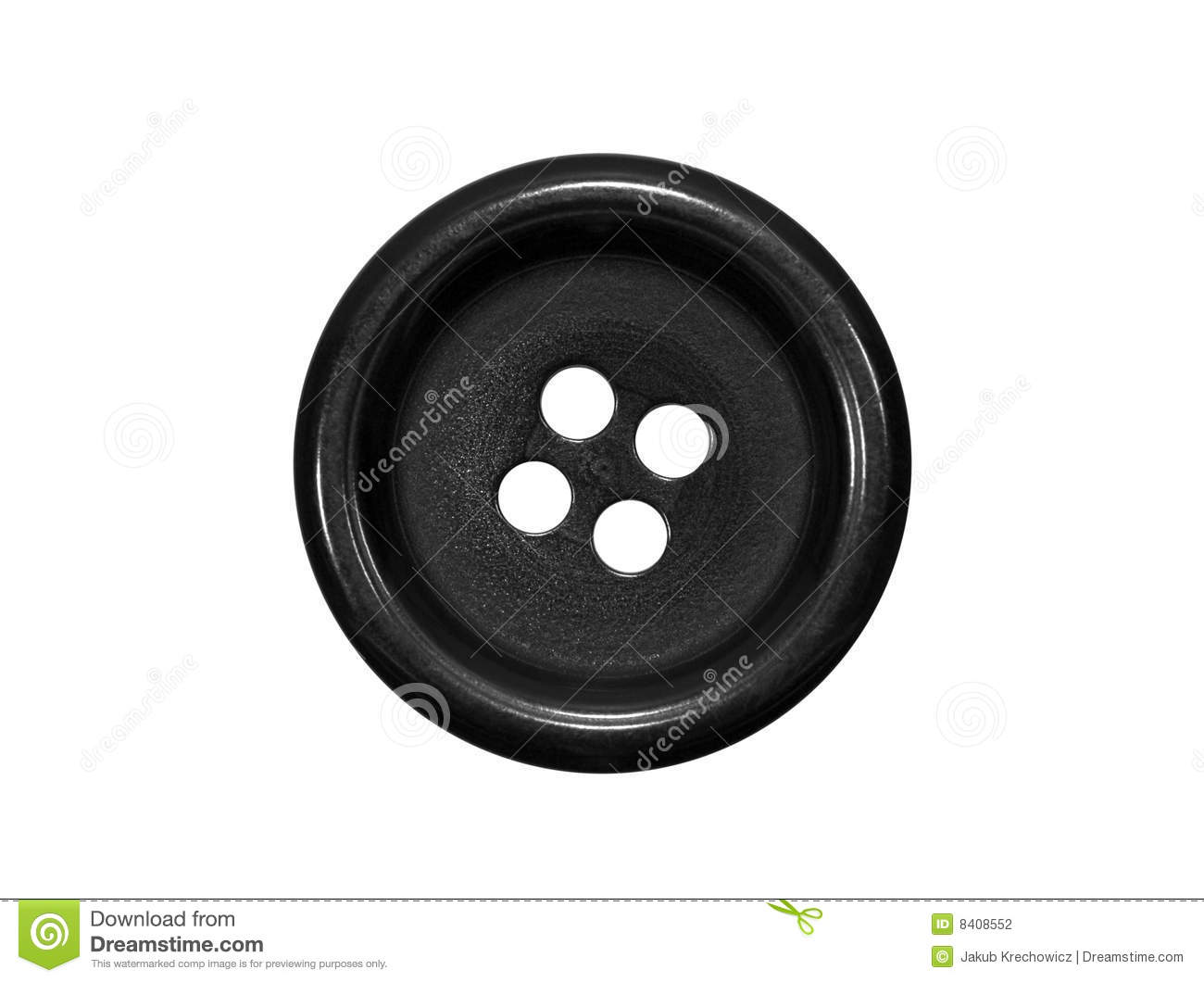 Black Button Stock Photography - Image: 8408552