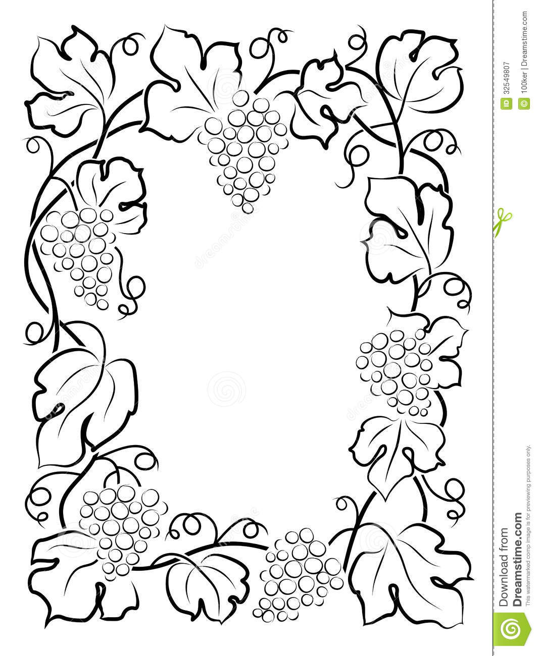 ... Free Stock Photography: Black calligraphy frame wine label vine grapes