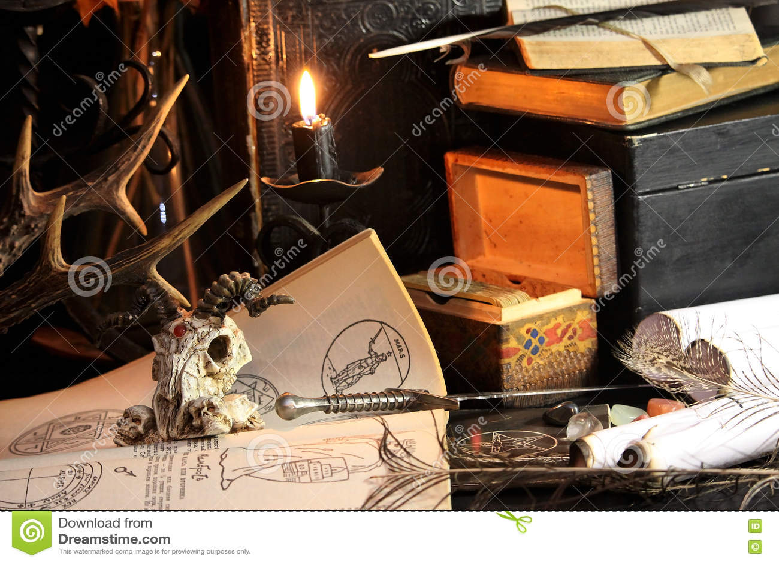 Black candle Magic Ritual stock image  Image of death - 81031585