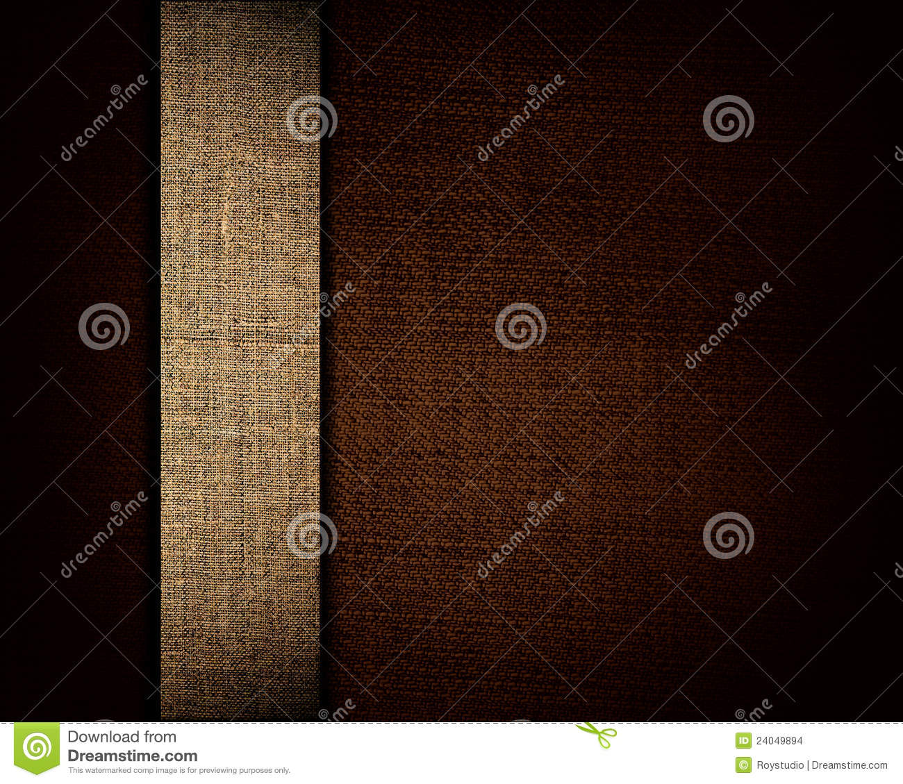Black canvas texture and beige strip as background