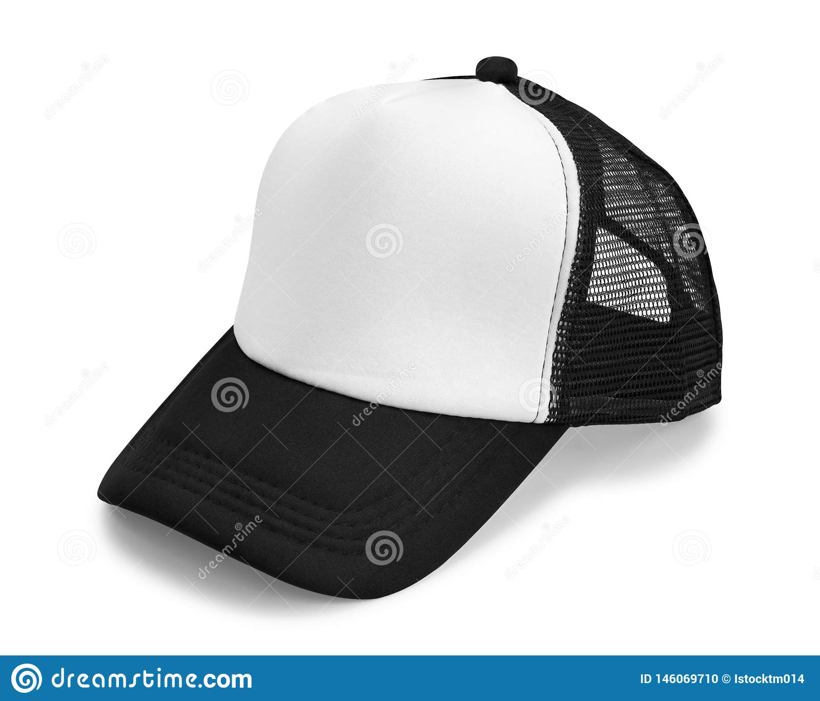 29b26ad9 Black Cap Isolated On White Background. Fashion Hat For Design ...
