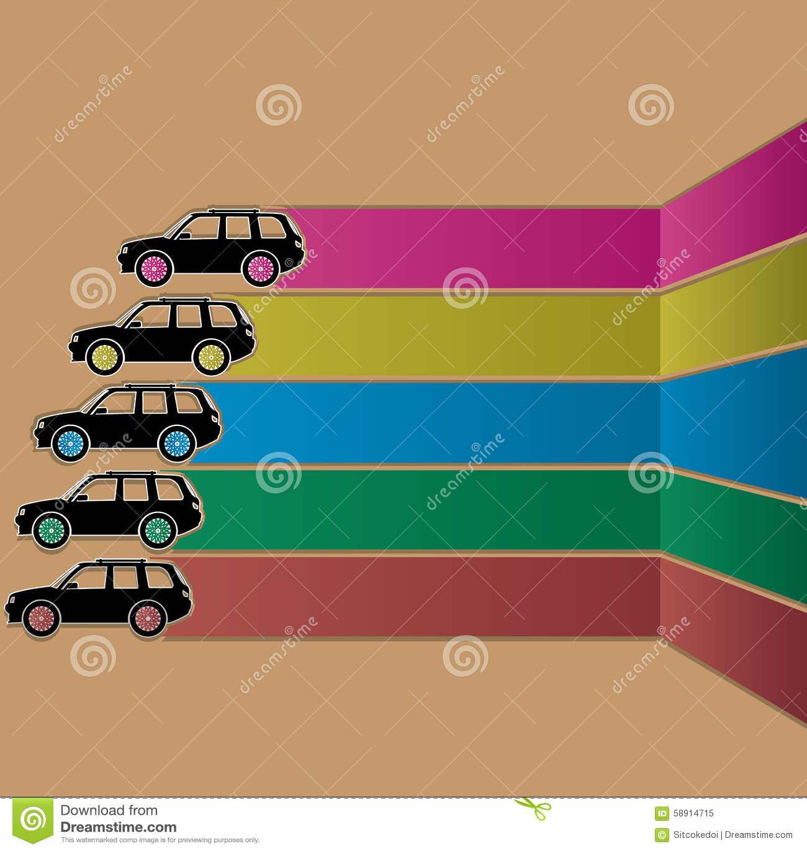 Car sticker design download - Black Car Sticker And Stripe Color