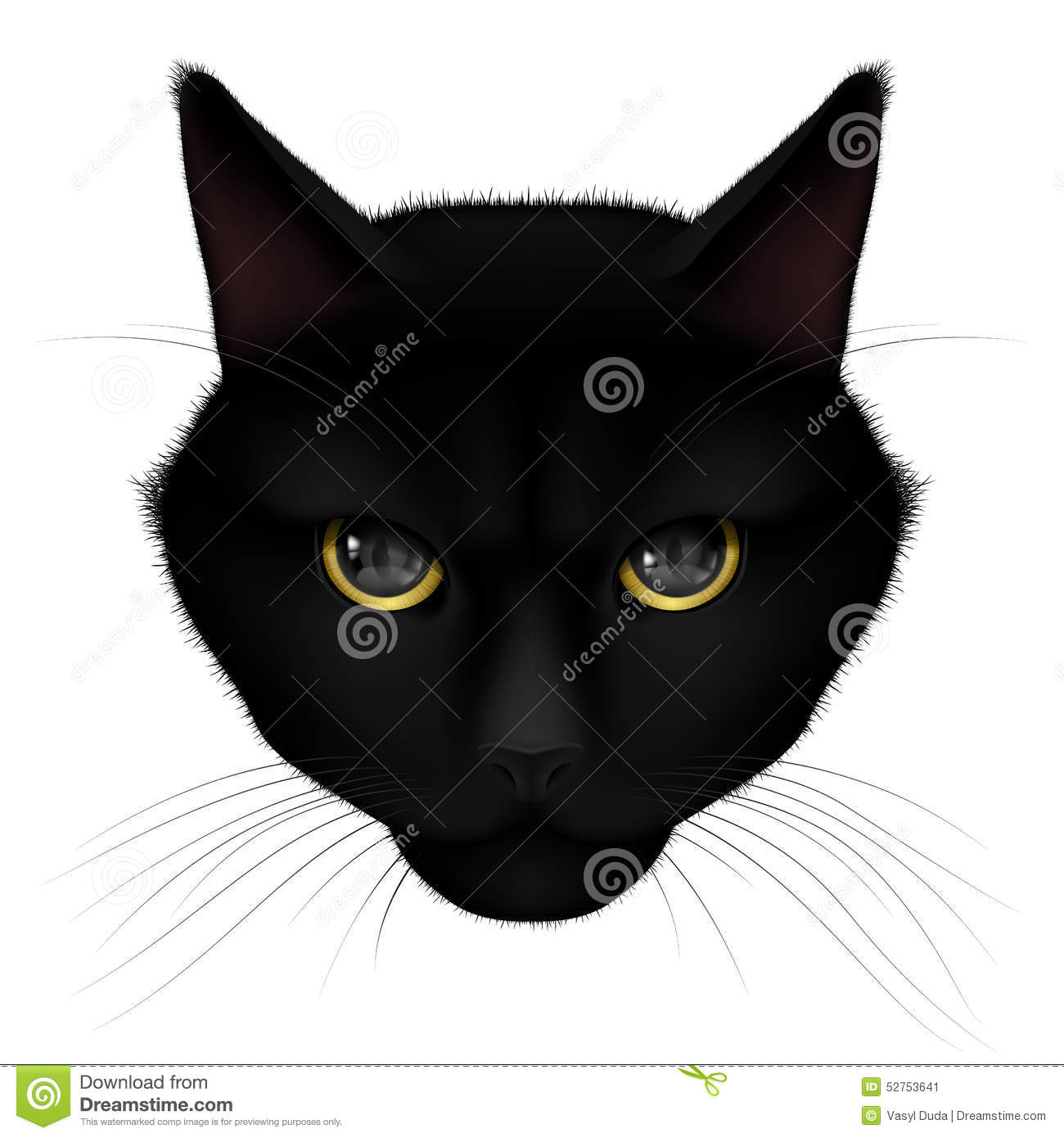 Black Cat Stock Vector - Image: 52753641