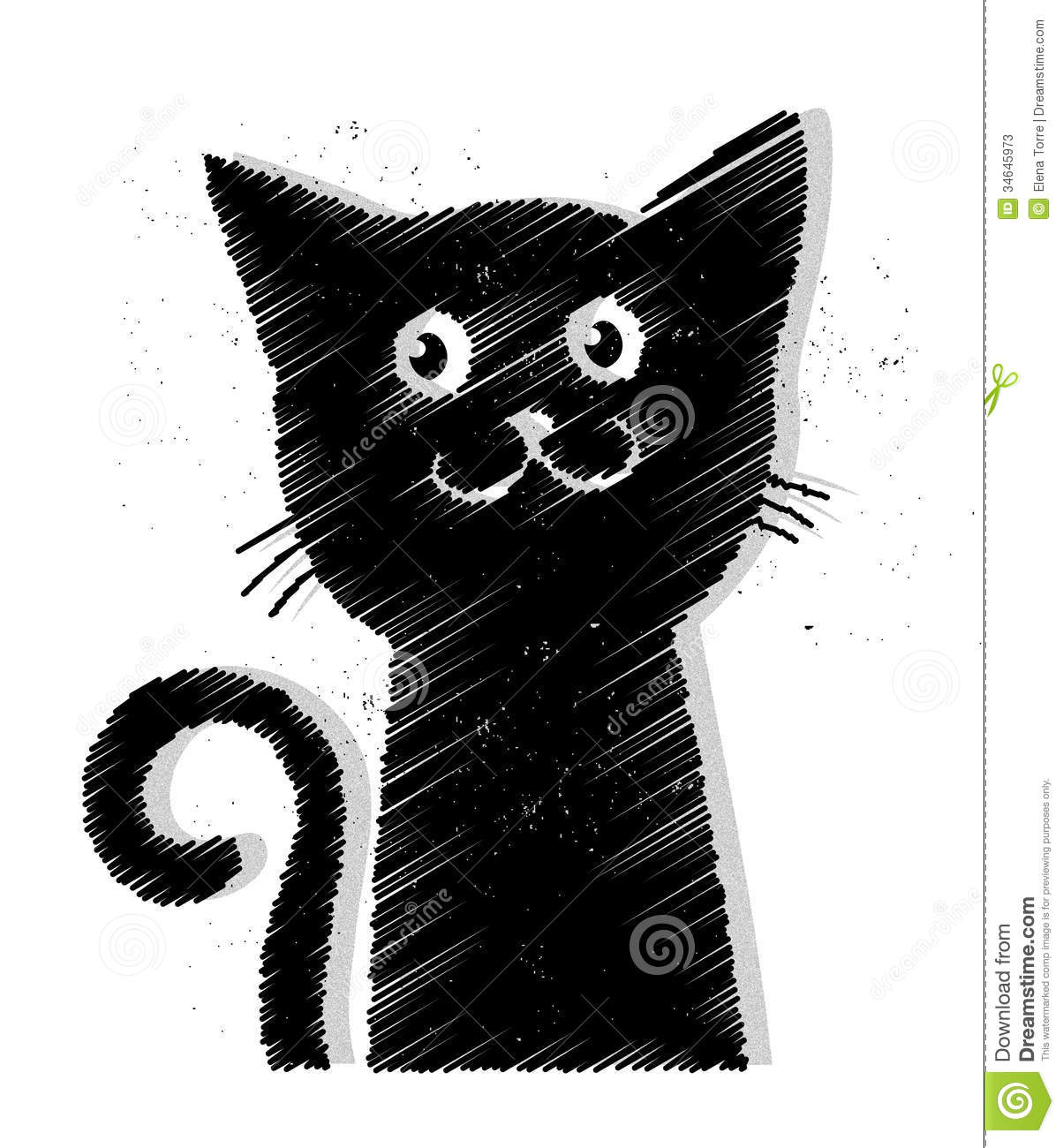 Black Cat Vector Stock Photos - Image: 34645973
