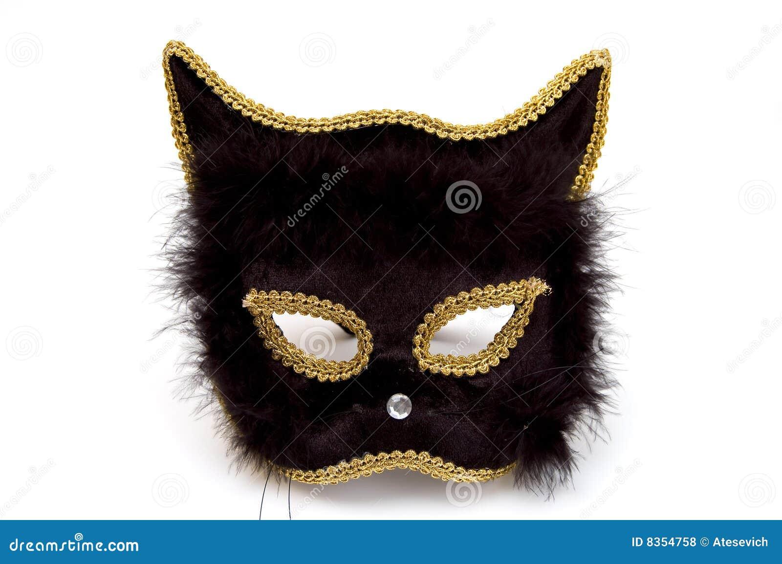 Black Cat Mask Royalty Free Stock Photos - Image: 8354758