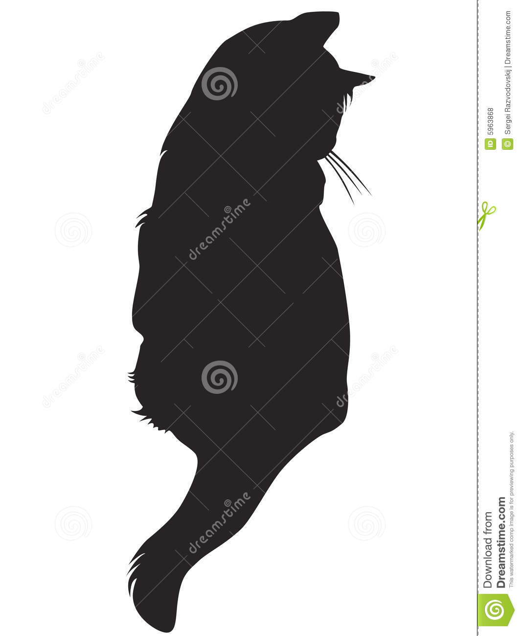 Black Cat Silhouette Royalty Free Stock Photos - Image: 5963868