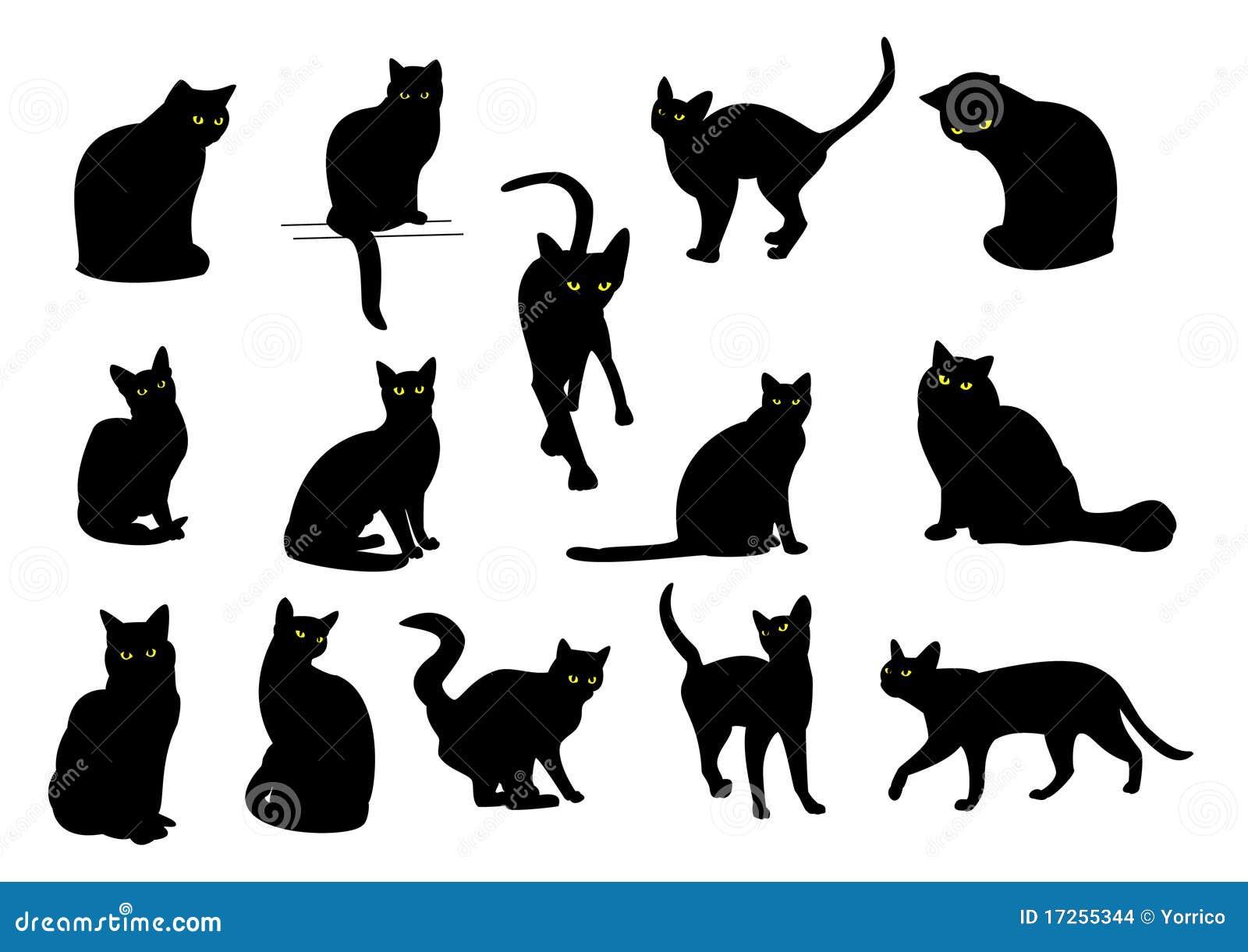 Black Cat Silhouettes ...