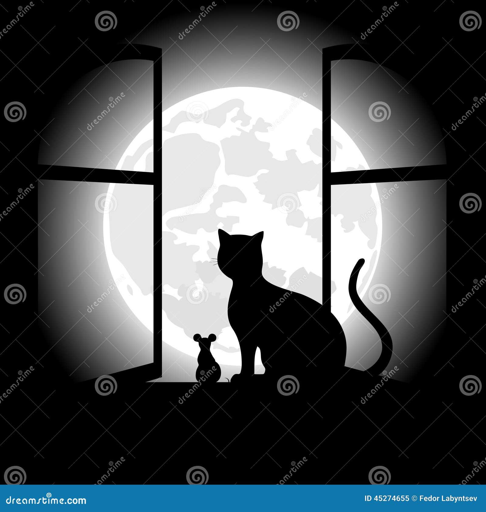 Black Cat Moonlight