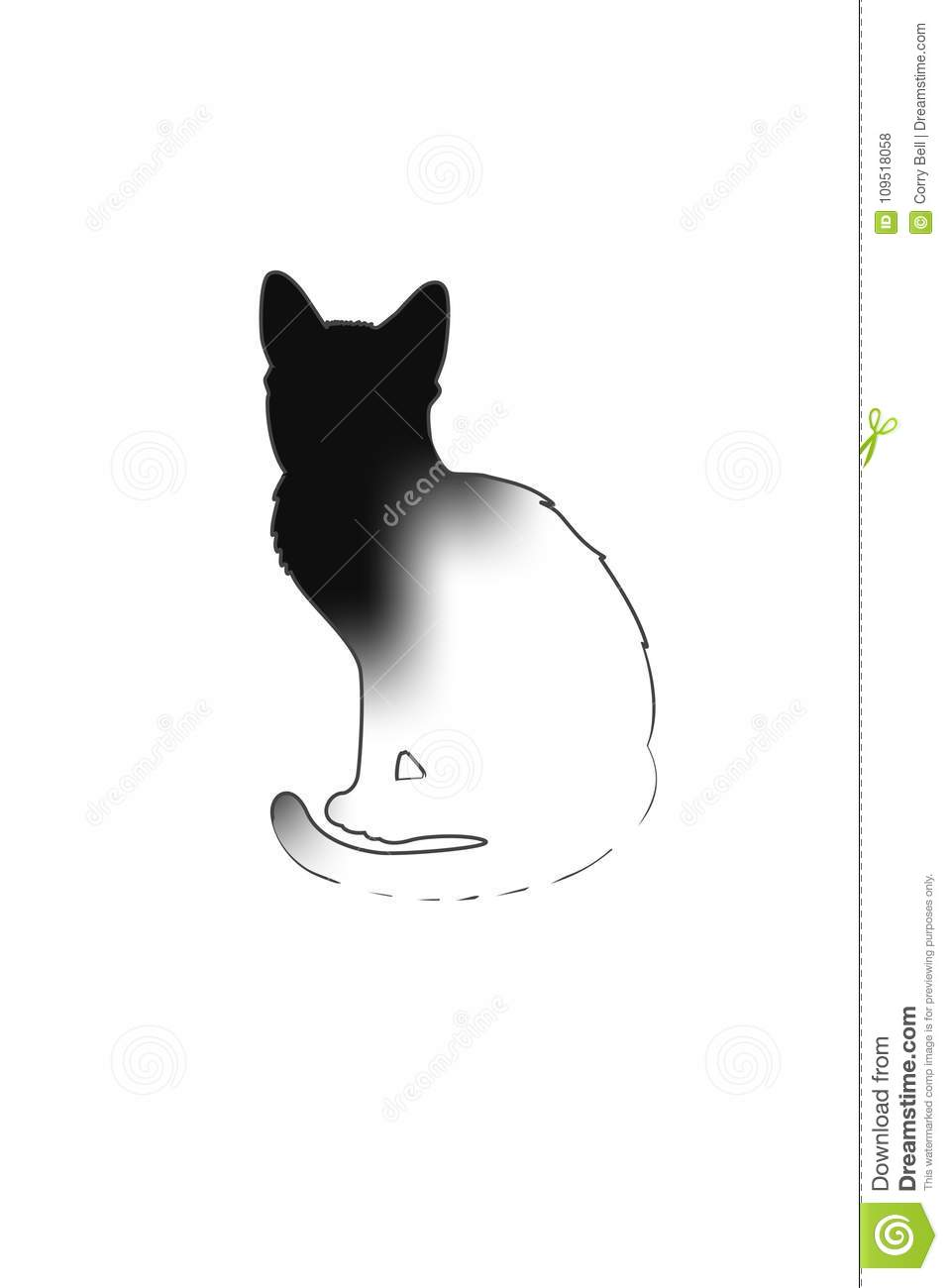 Black Cat Silhouette Stock Vector Illustration Of Store