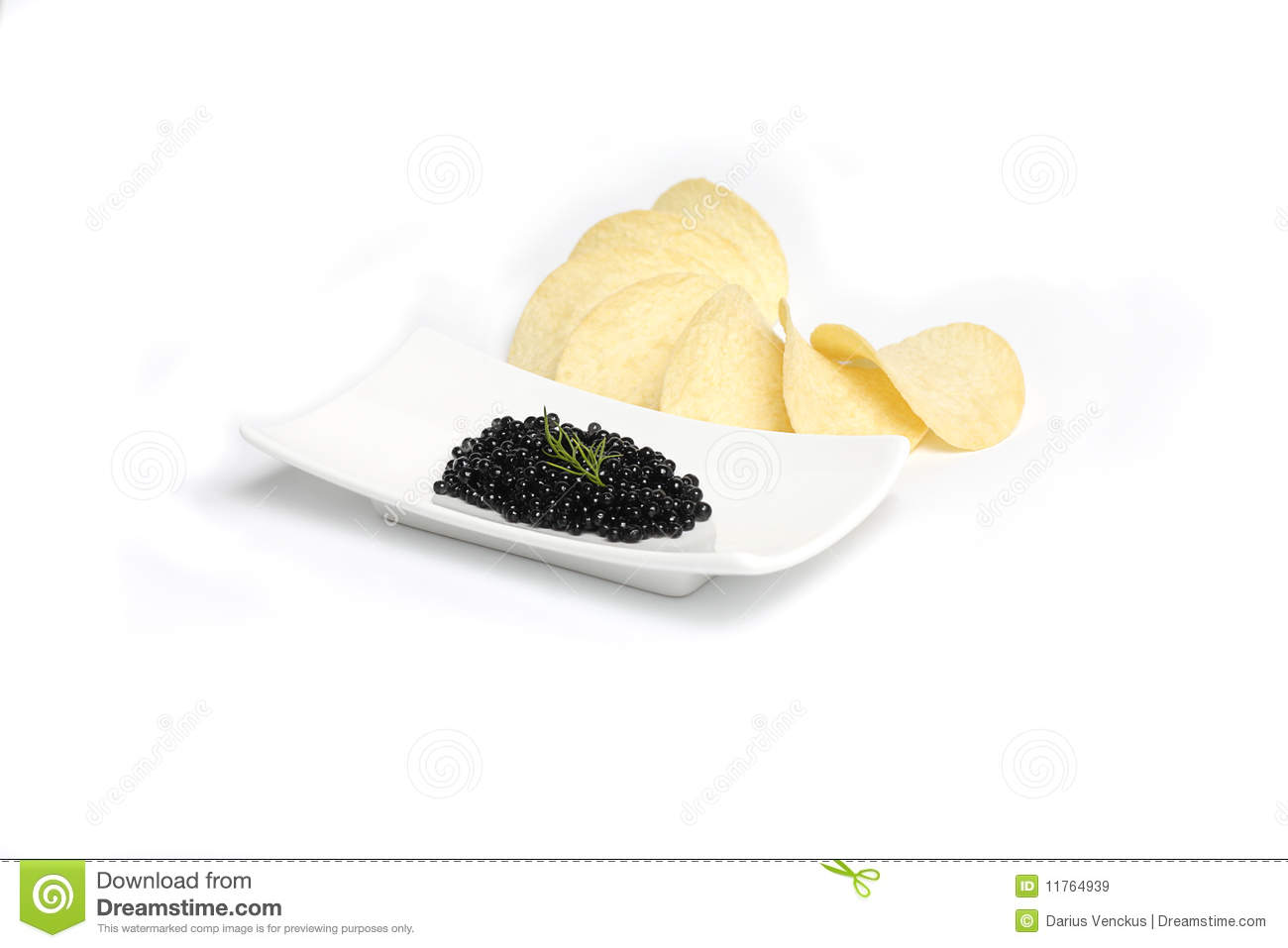 Black caviar with dill in plate royalty free stock images for Black caviar fish