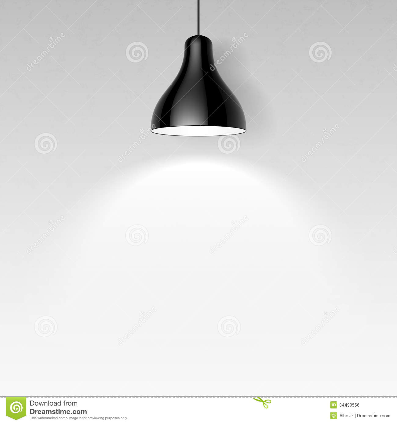 Black Ceiling Lamp Royalty Free Stock Image