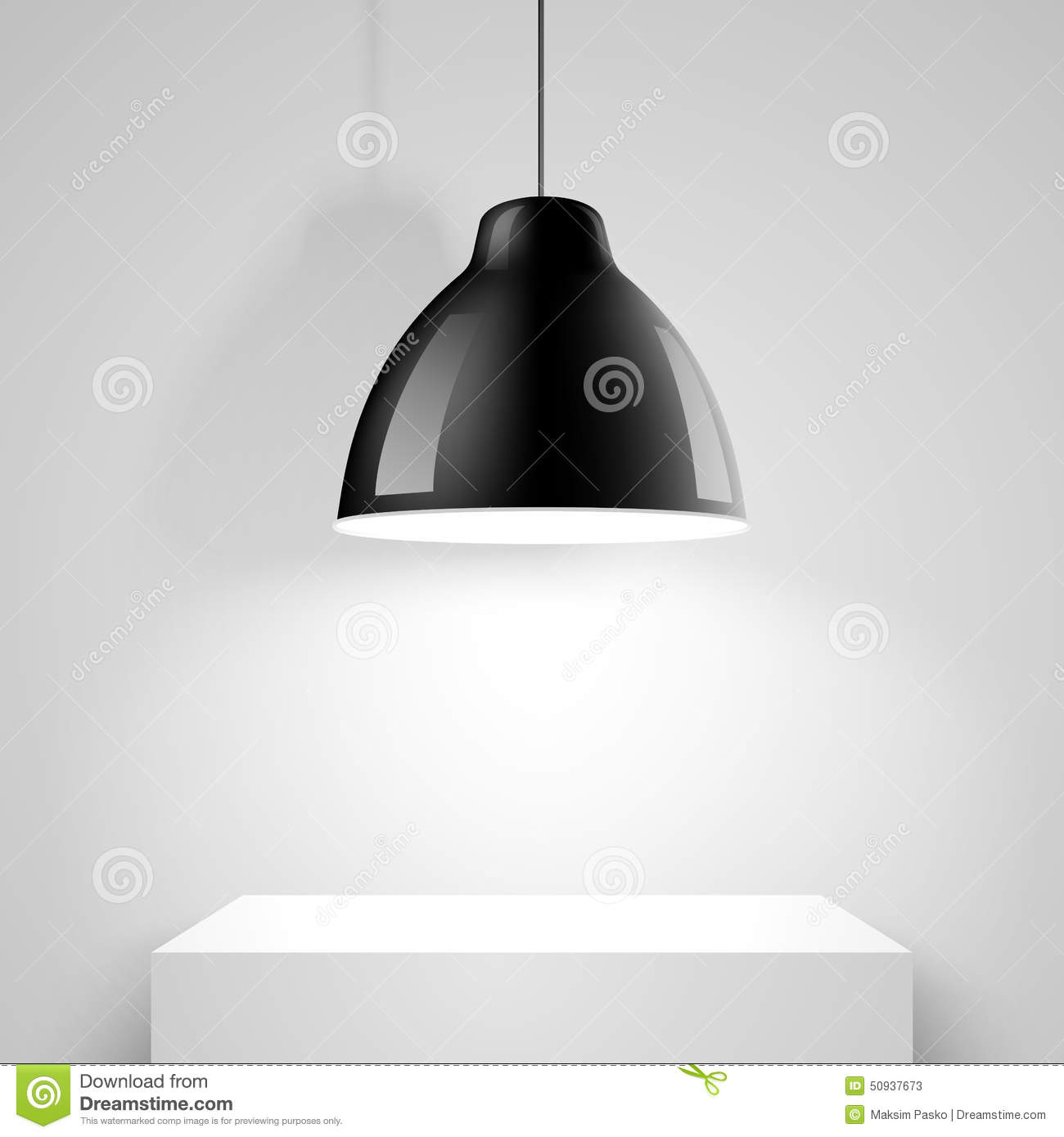 Black Ceiling Lamp Royalty Free Vector Image: Black Ceiling Lamp. Vector Stock Vector. Image Of Modern