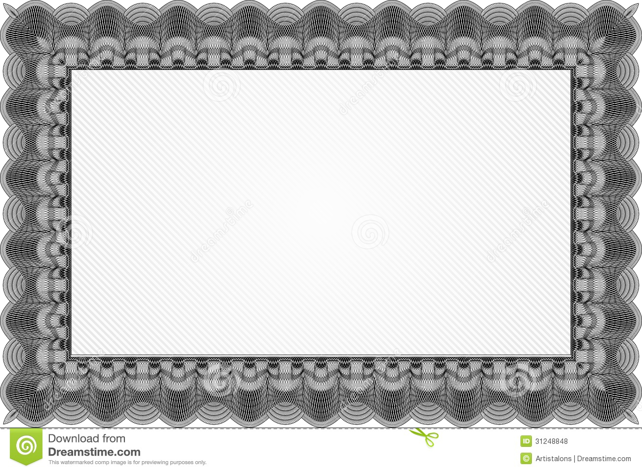 Black Certificate Template Royalty Free Photos Image 31248848 – Blank Stock Certificate Template