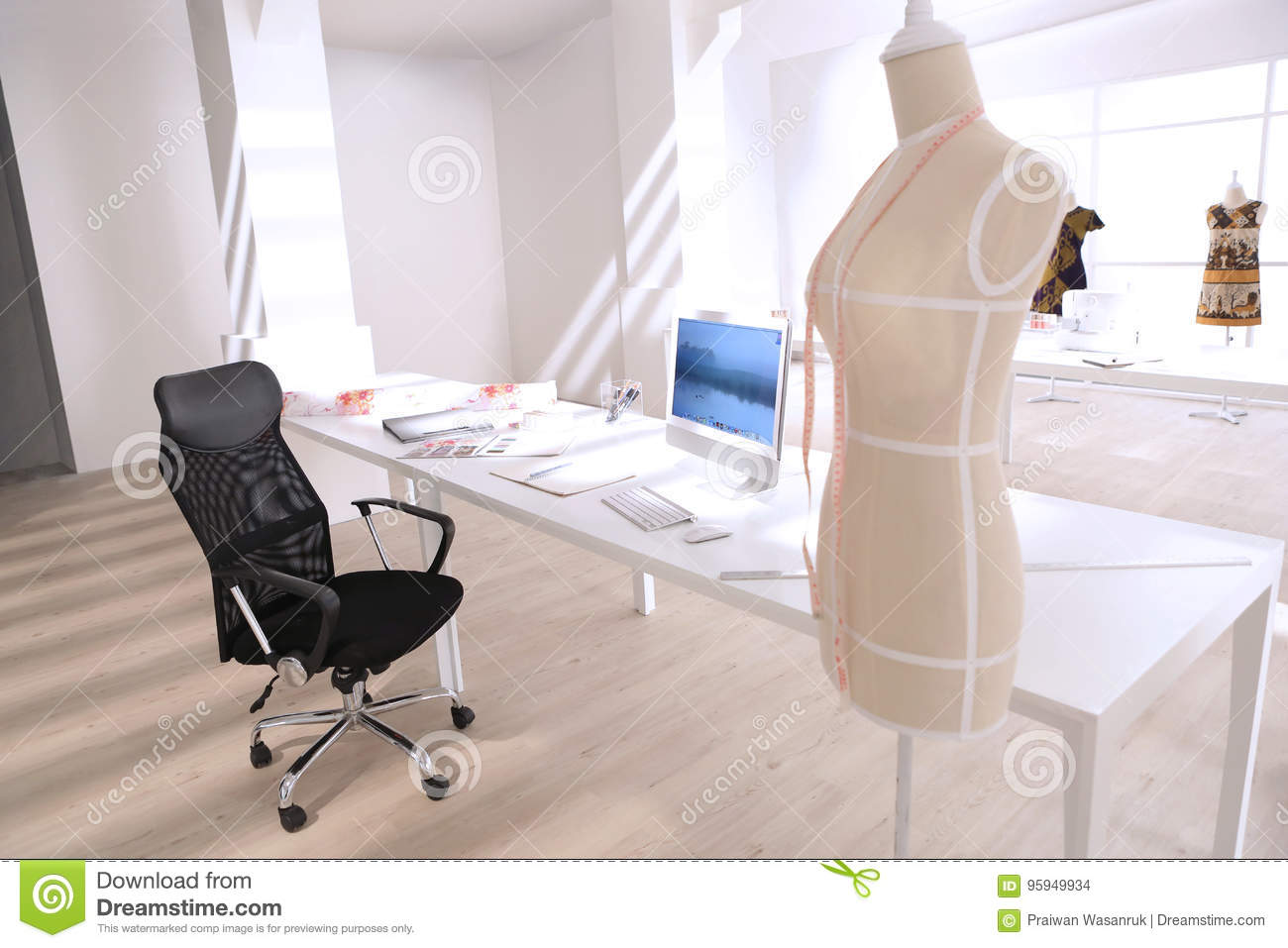Brilliant Black Chair In The White Room Stock Photo Image Of Sewing Theyellowbook Wood Chair Design Ideas Theyellowbookinfo