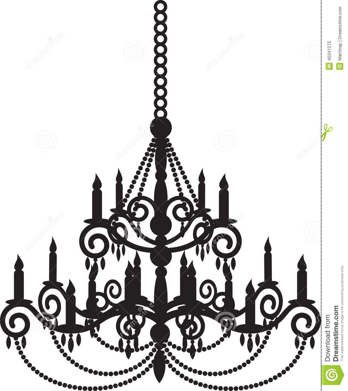 Black Chandelier Stock Vector Illustration Of Candles