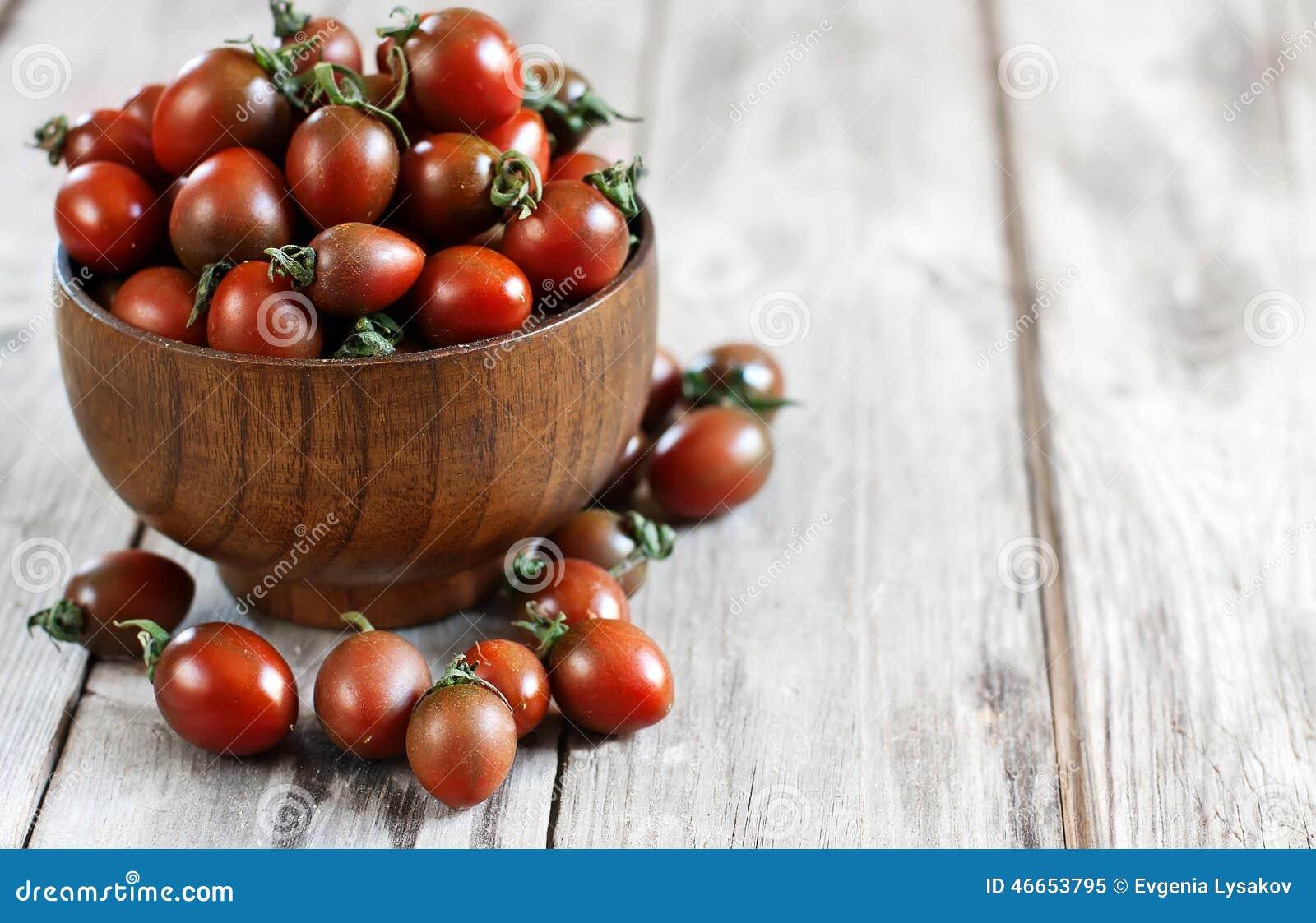 Black Cherry Tomato Background Stock Photo - Image: 46653795
