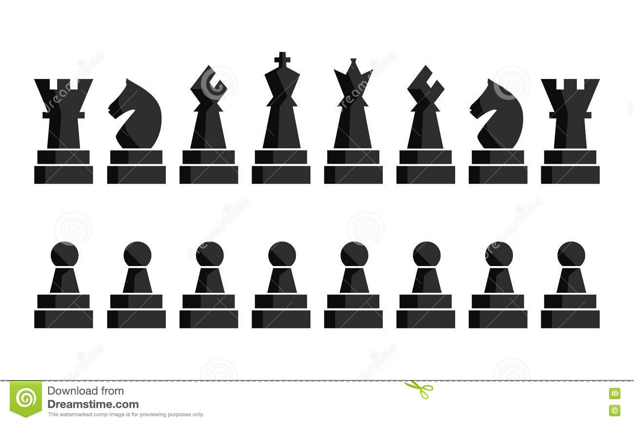 Download Black Chess Icons Set. Chess Board Figures. Vector Illustration Chess Pieces. Nine Different Objects Including King Stock Vector - Illustration of mate, classical: 73135029