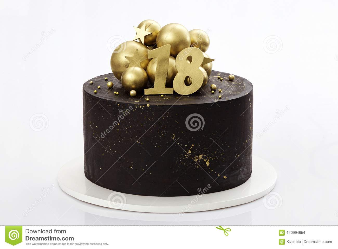 The Birthday Cake Is 18 Years Old Stock Photo Image Of Backery