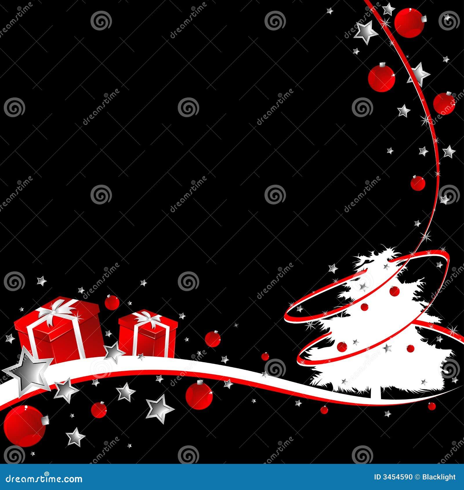 Black Christmas Stock Photo Image 3454590