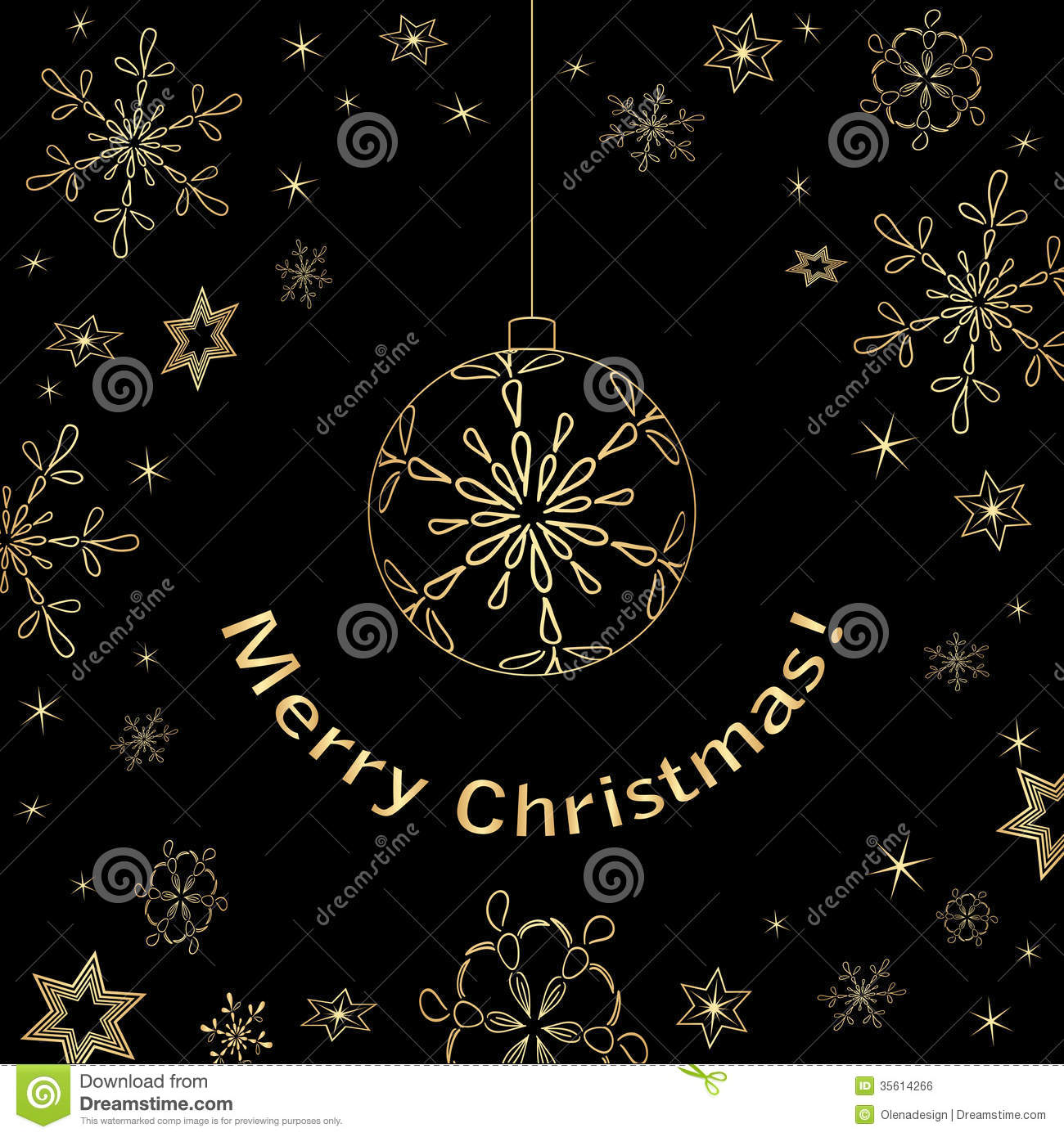 Black and gold christmas decorations - Black Card Christmas Gold