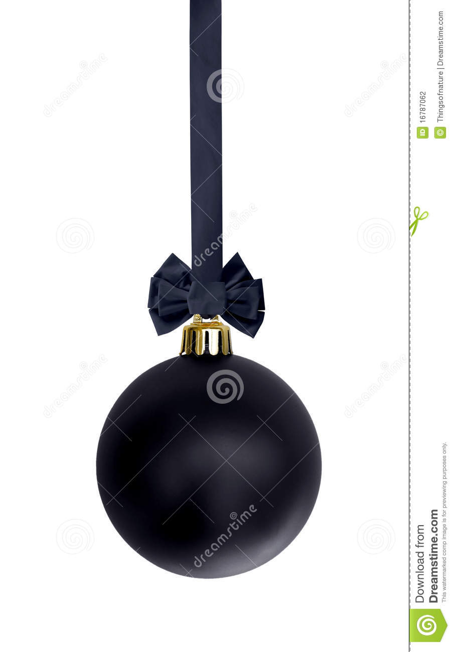 Black Christmas Ornaments.Black Christmas Ornament Stock Photo Image Of Ornaments