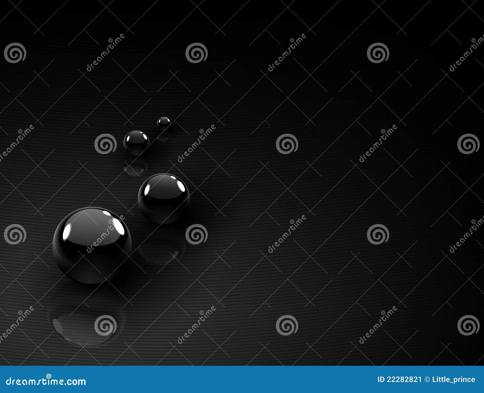 Black chrome balls background