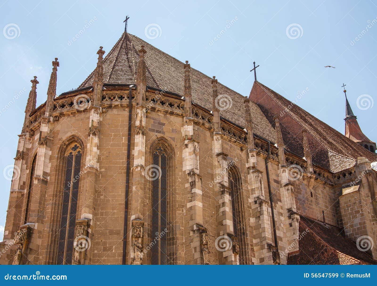 Black church brasov romania stock photo image 56547599 - Romanian architectural styles ...