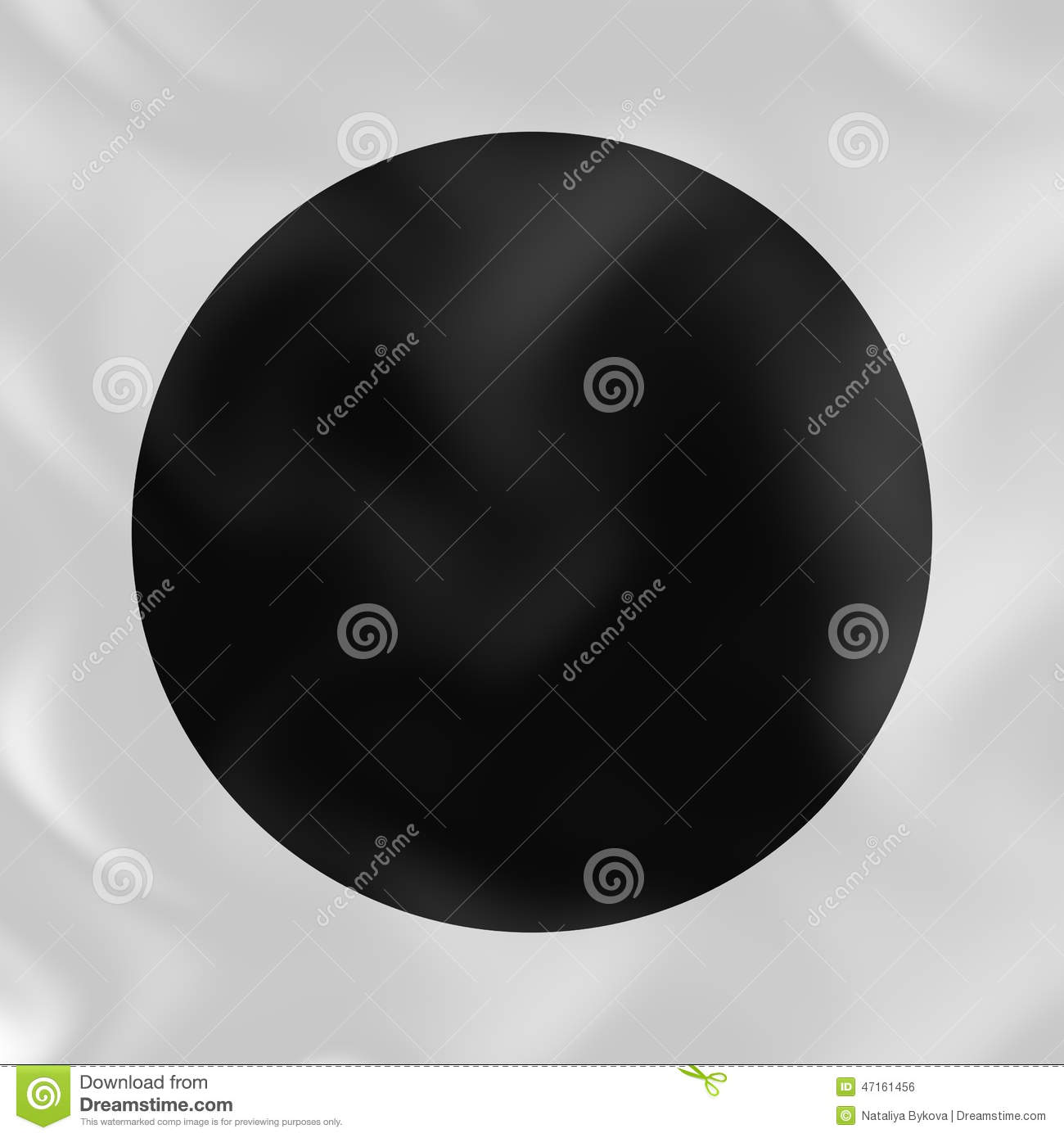 Black Circle On White Silk 3D Abstract Background Stock ...
