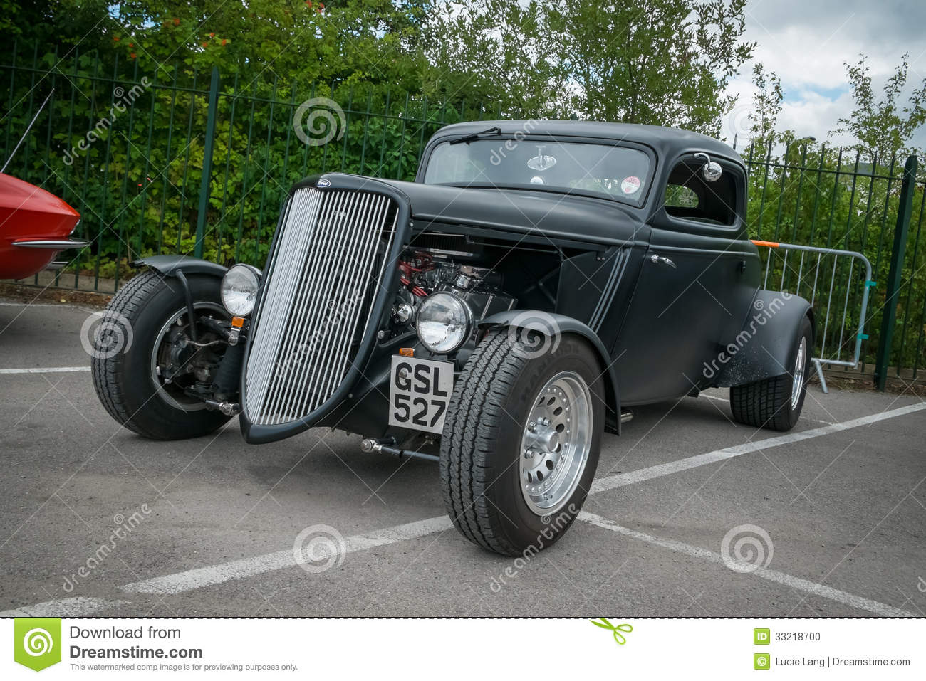 Black Classic American Hot Rod Editorial Image - Image of style ...