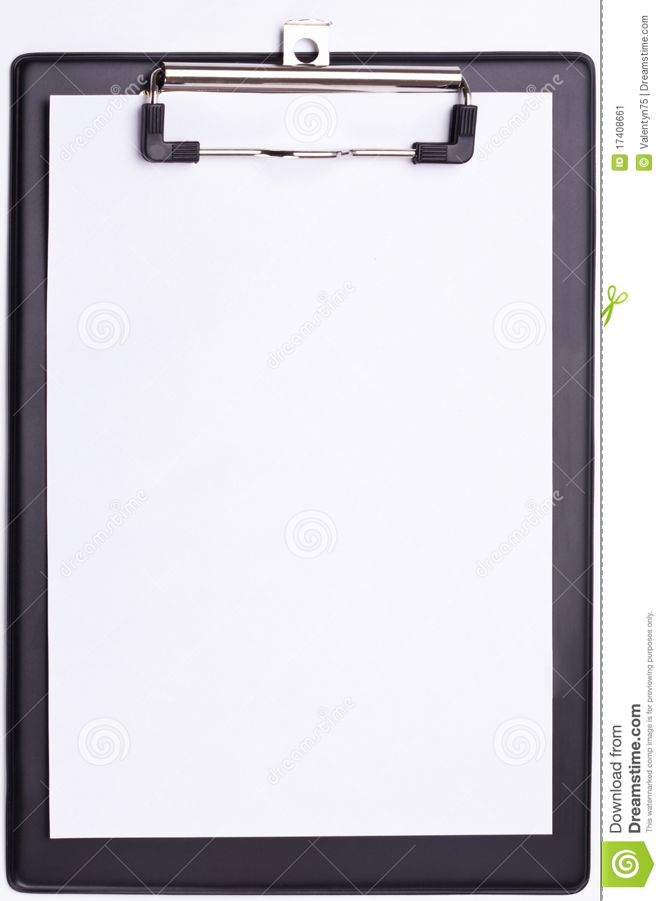 Black clipboard.