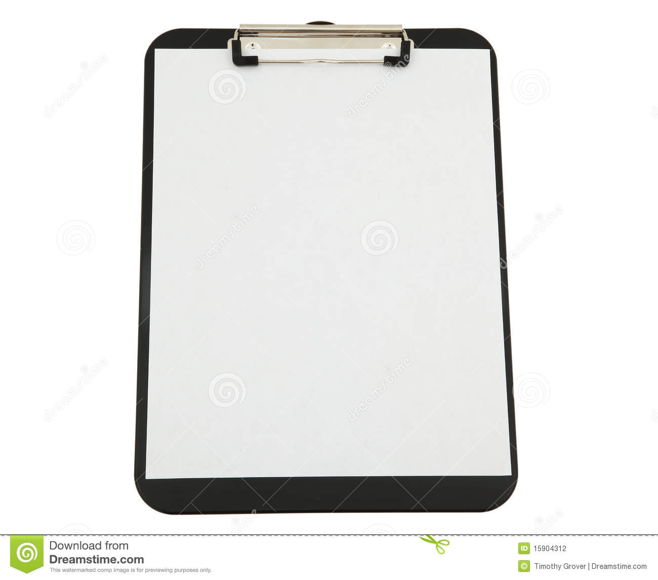 black clipboard with white paper stock photo image of letter