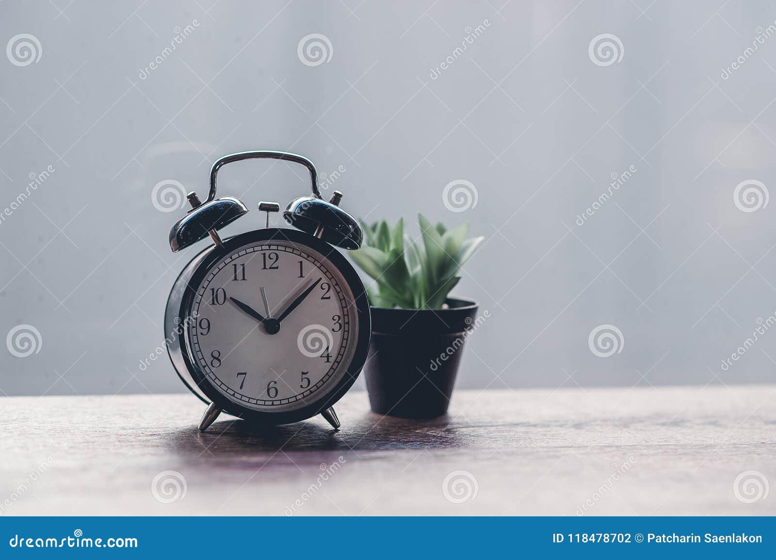 Black Clock Style Vintage Time Clock Stock Photo Image Of