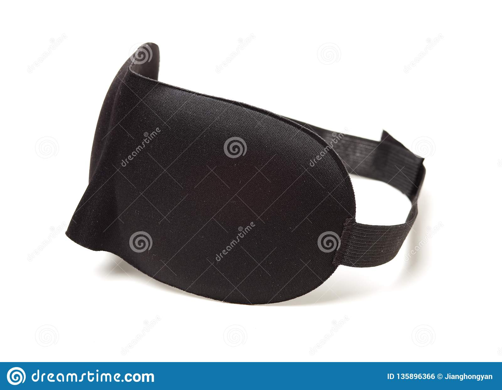8d70bfd47c1 Black cloth eye mask stock photo. Image of background - 135896366