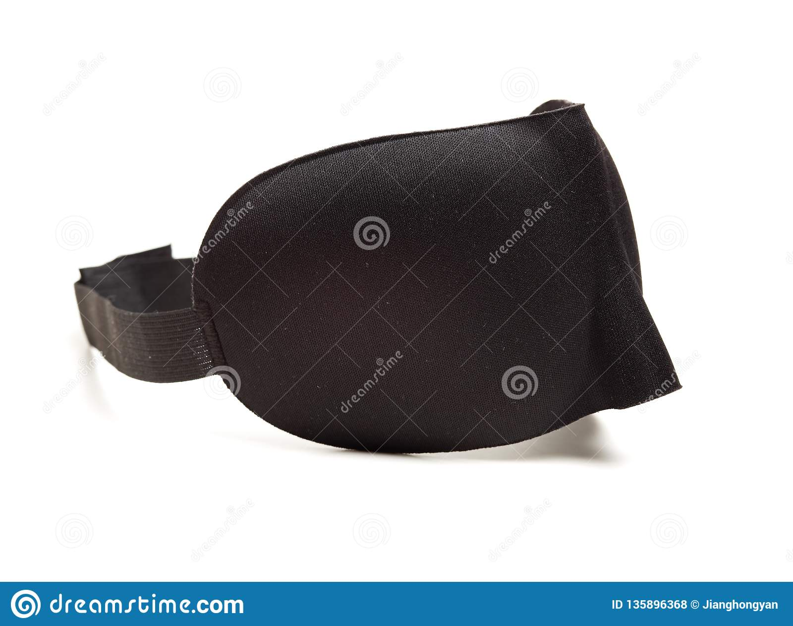 1a23a2467cc Black cloth eye mask stock photo. Image of blinkers - 135896368