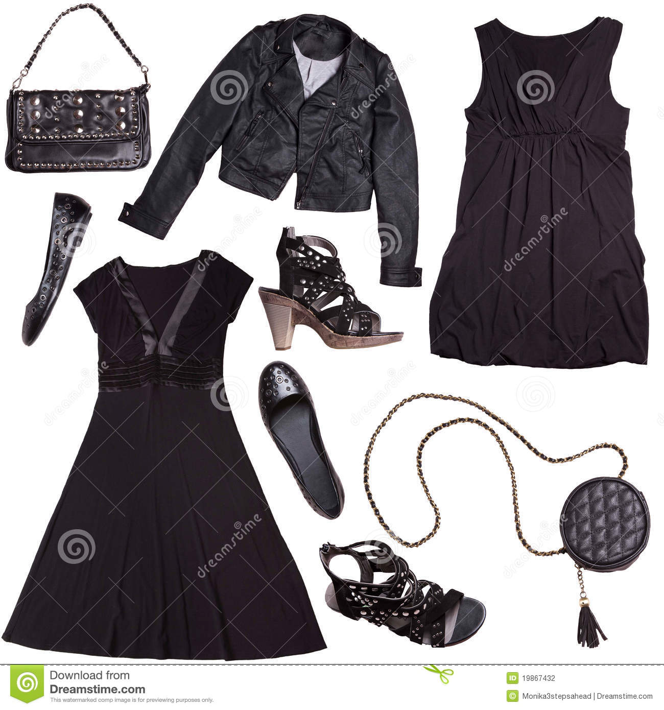 Black Clothes For Women - Punk Style Stock Photography ...