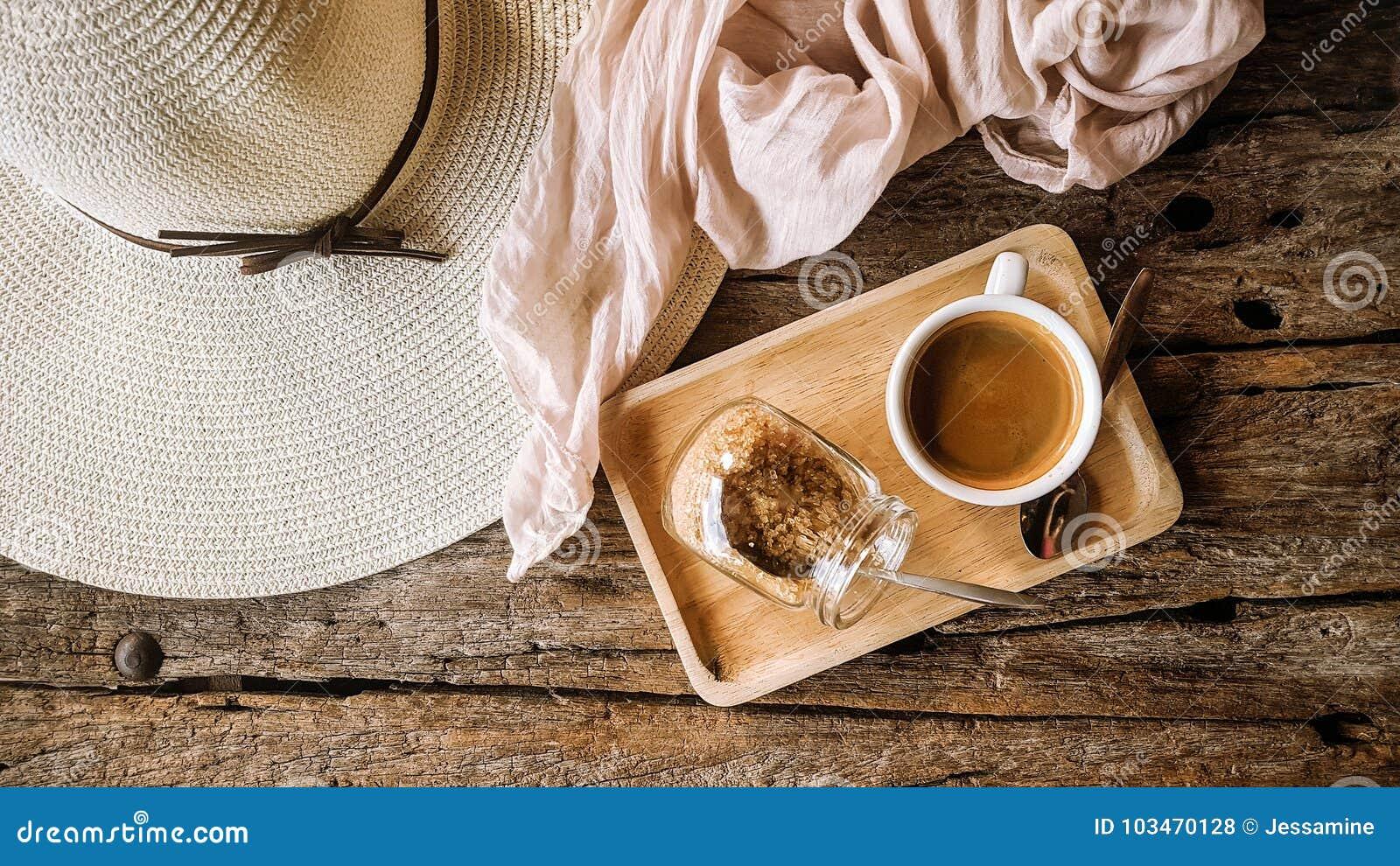 Black coffee with brown sugar