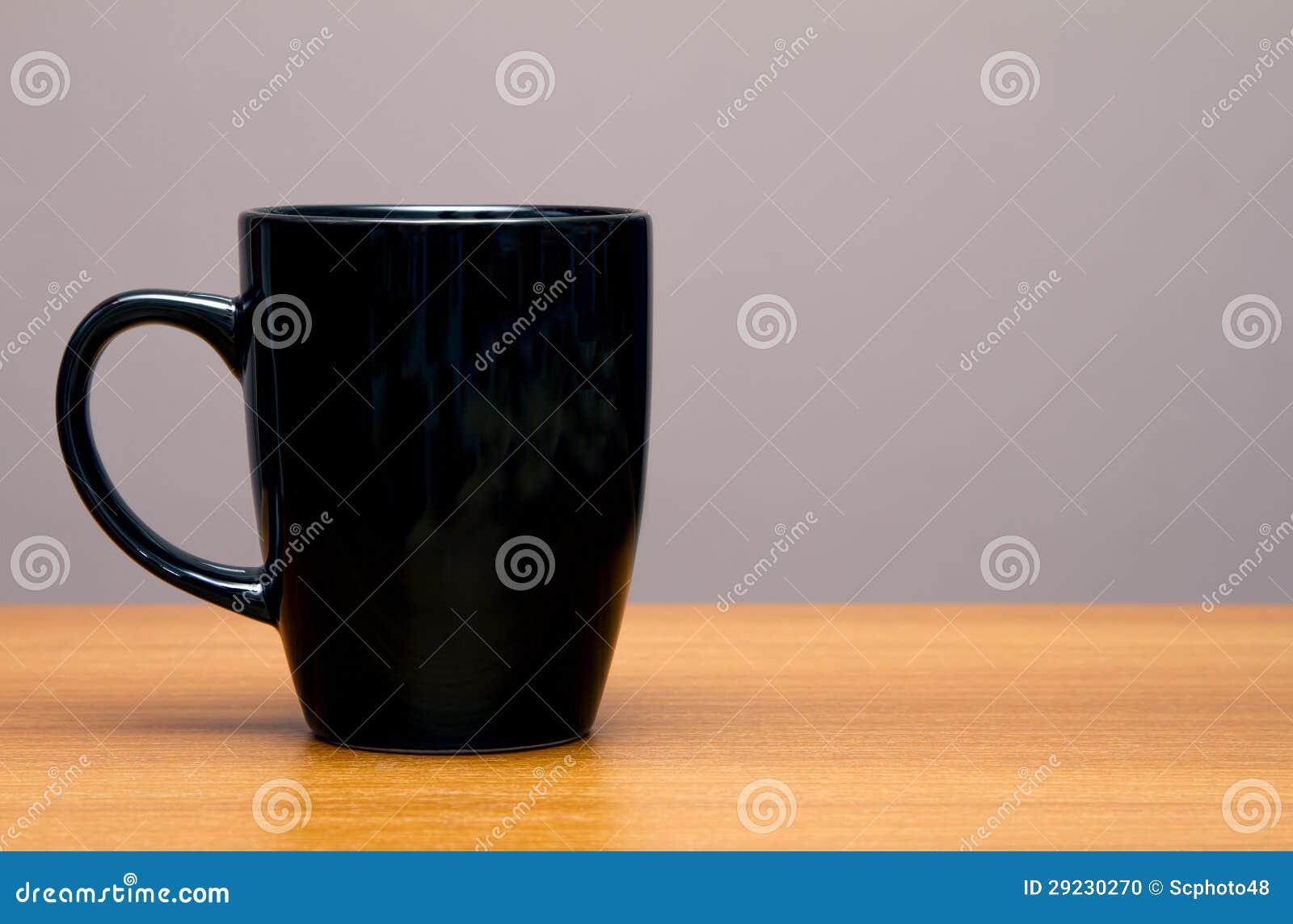 Black Coffee Mug On Wood Table Stock Photo Image 29230270