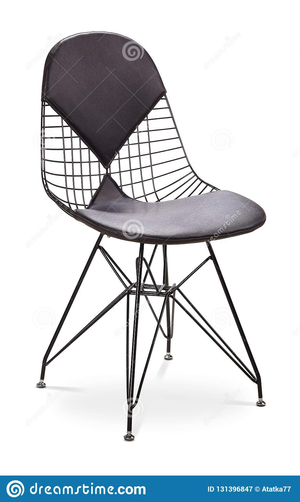 Fantastic Black Color Chair Metal Chair With Leather Seat And Lamtechconsult Wood Chair Design Ideas Lamtechconsultcom
