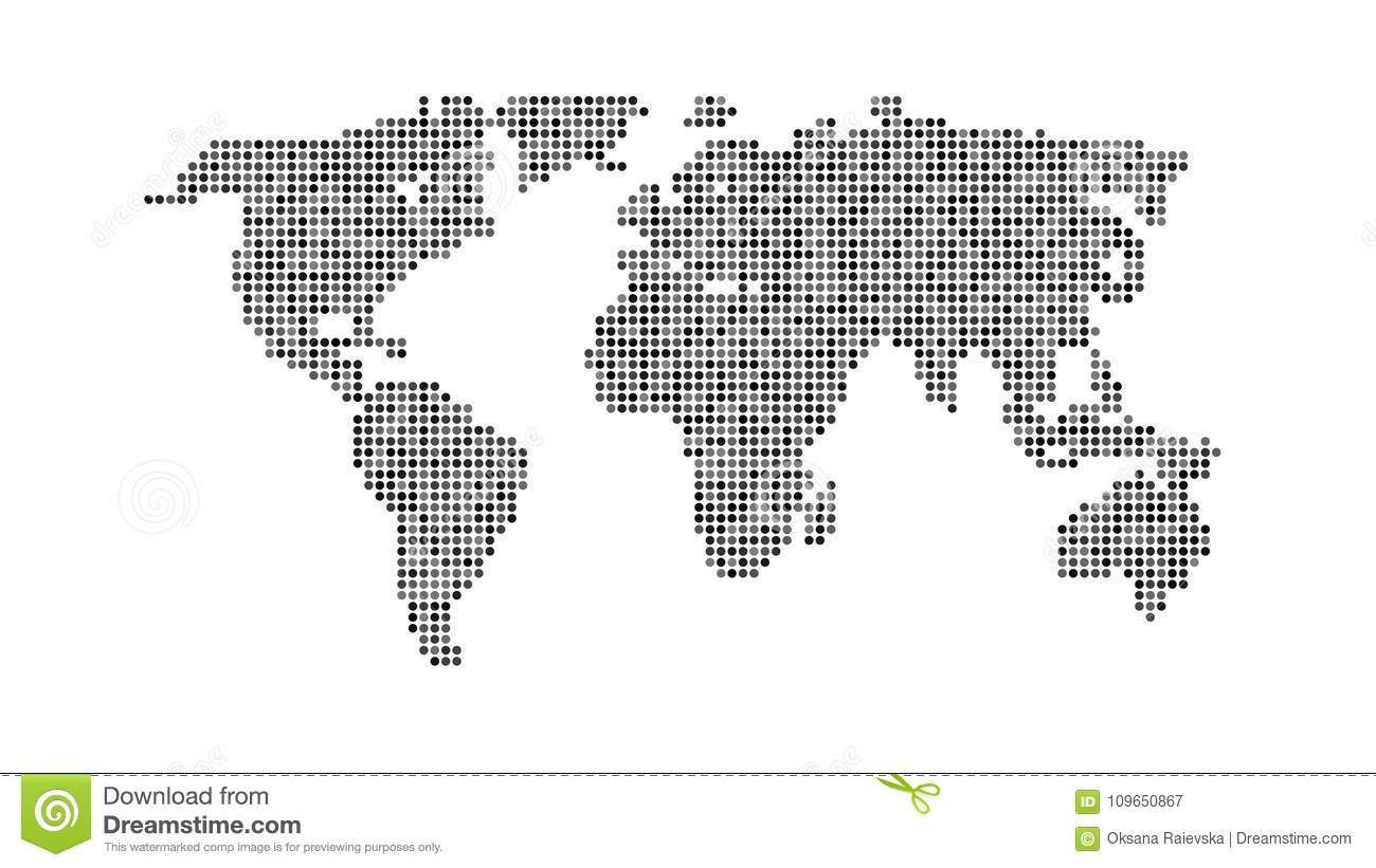 Black color world map isolated on white stock vector illustration download black color world map isolated on white stock vector illustration of digital globe gumiabroncs Choice Image