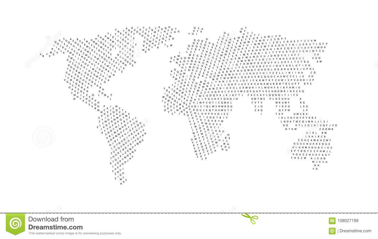 Black color world map isolated on white background stock vector black color world map isolated on white background abstract flat template with letters for web design brochure flyer annual report banner infographic gumiabroncs Choice Image