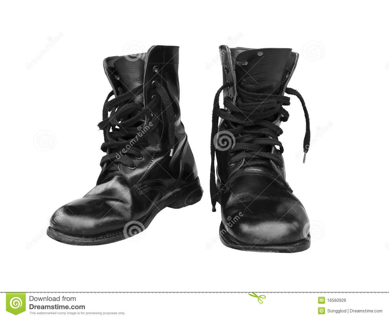 Black Combat Boot Royalty Free Stock Image - Image: 16560926